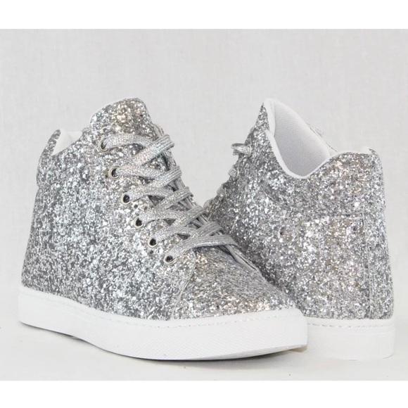Shoes   Arrives Soon Silver Glitter